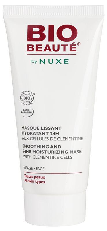 Bio Beauté by Nuxe Moisturizers feuchtigkeitsspendende straffende Gesichtsmaske mit Clementinen Fruchtfleisch