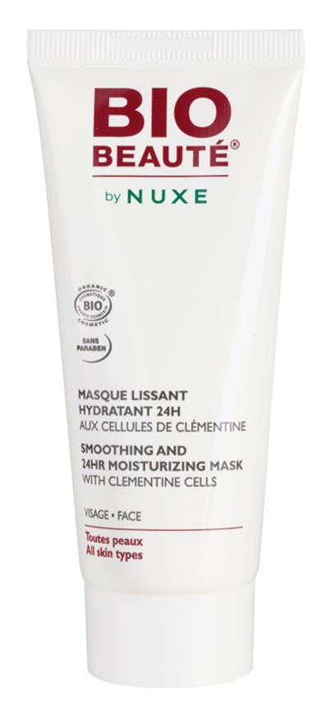 Bio Beauté by Nuxe Moisturizers hidratantna maska za zaglađivanje s pulpom klementine