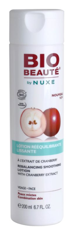 Bio Beauté by Nuxe Rebalancing vyrovnávacia a vyhladzujúca pleťová voda s brusnicovým extraktom