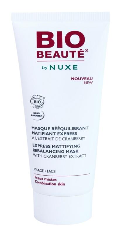 Bio Beauté by Nuxe Rebalancing zmatňujúca maska s brusnicovým extraktom pre stiahnuté póry