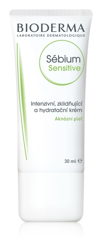 Bioderma Sébium Sensitive Intensive Hydrating and Calming Cream For Skin Left Dry And Irritated By Medicinal Acne Treatment
