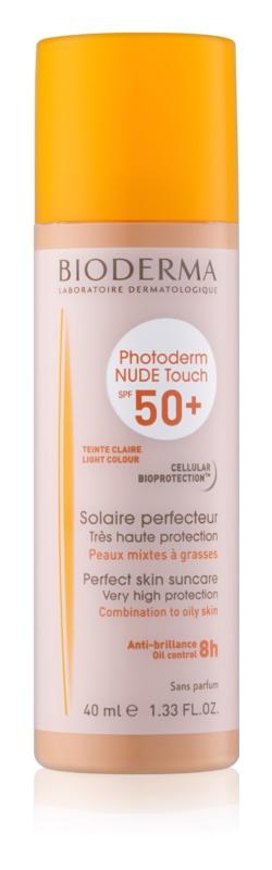 Bioderma Photoderm Nude Touch ochranný tónovaný fluid pro smíšenou až mastnou pleť SPF 50+