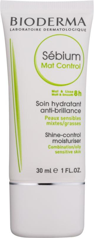 Bioderma Sébium Mat Control könnyű hidratáló krém a fénylő arcbőr és a kitágult pórusok ellen