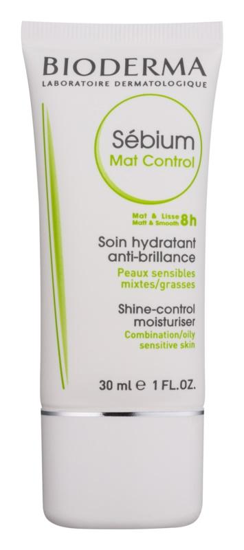 Bioderma Sébium Mat Control leichte feuchtigkeitsspendende Creme gegen ein glänzendes Gesicht und erweiterte Poren