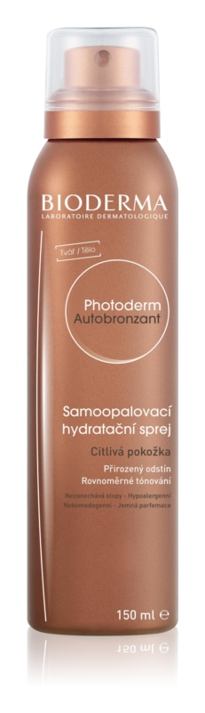 Bioderma Photoderm Autobronzant spray autobronceador para pieles sensibles