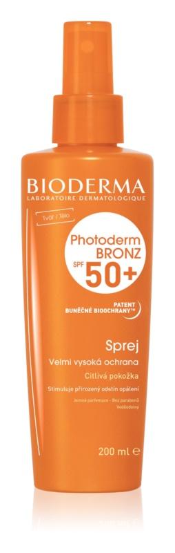 Bioderma Photoderm Bronz pršilo za sončenje SPF 50+