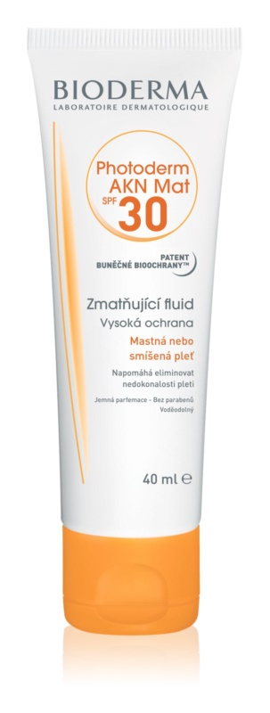 Bioderma Photoderm AKN Mat fluido facial protetor matificante SPF 30