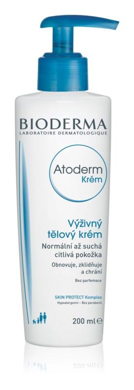 Bioderma Atoderm поживний крем для тіла для нормальної та сухої чутливої шкіри без ароматизатора