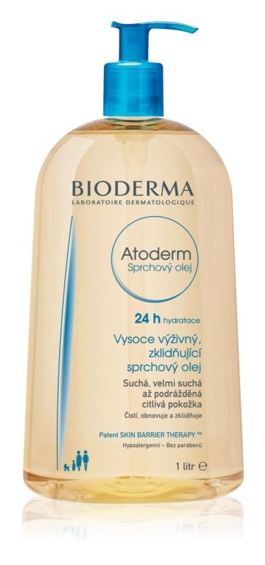 Bioderma Atoderm visoko hranilno pomirjajoče olje za prhanje za suho in razdraženo kožo