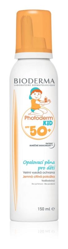 Bioderma Photoderm Kid espuma de proteção solar para crianças SPF 50+