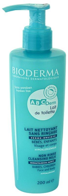 Bioderma ABC Derm Lait de Toilette lotiune de curatare hipoalergenica pentru copii