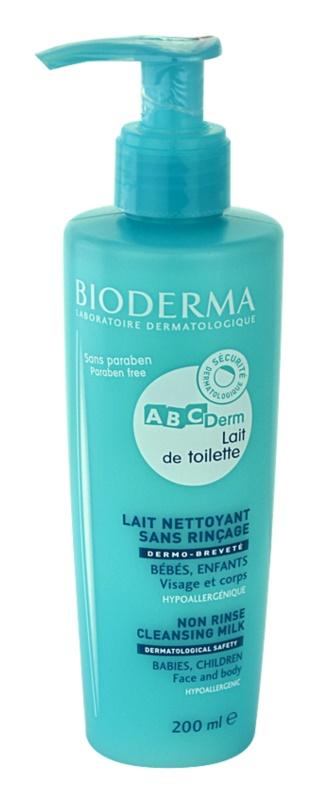 Bioderma ABC Derm Lait de Toilette гіпоалергенне очищуюче молочко для дітей