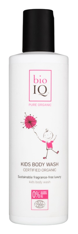 BioIQ Child Care bőrlágyító tusfürdő gél a gyermek bőrre