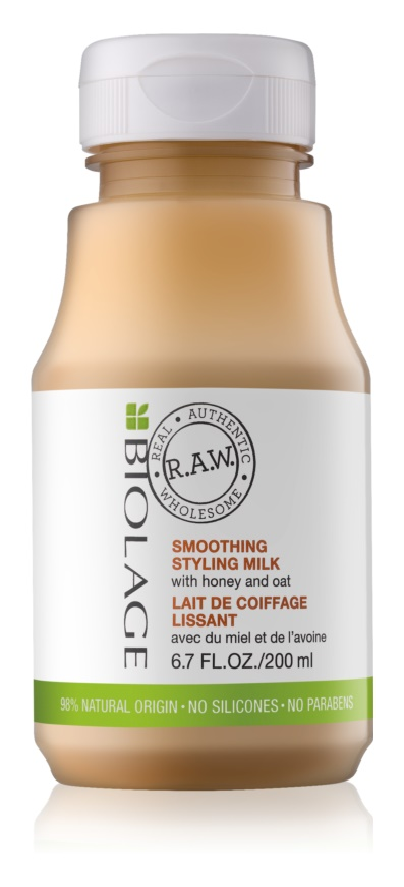 Biolage RAW Styling stylingové uhlazující mléko s medem a ovsem