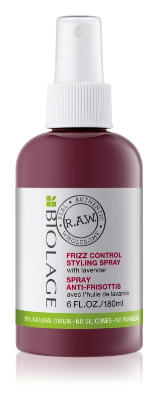 Biolage RAW Styling spray a rakoncátaln haj ellen  levendulával