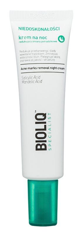 Bioliq Specialist Imperfections crème de nuit contre les cicatrices d'acné