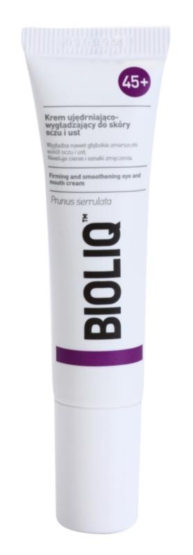 Bioliq 45+ creme reafirmante para as rugas profundas ao redor dos olhos e lábios