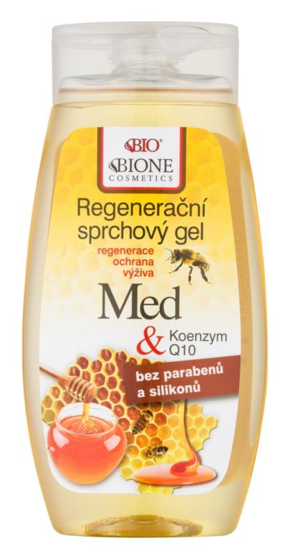 Bione Cosmetics Honey + Q10 regenerierendes Duschgel