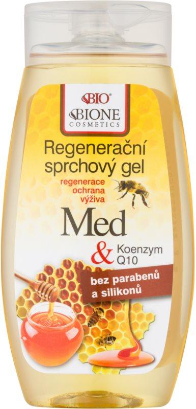 Bione Cosmetics Honey + Q10 regenerirajući gel za tuširanje