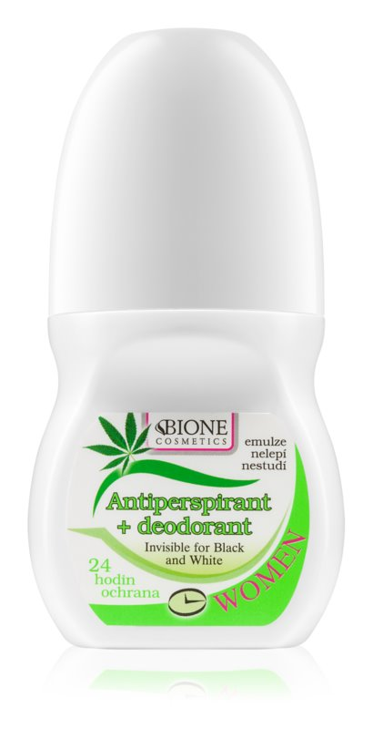 Bione Cosmetics Cannabis Antiperspirant Roll-On With Floral Fragrance