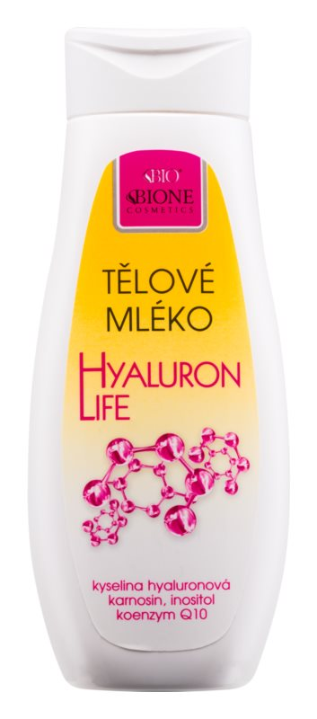 Bione Cosmetics Hyaluron Life testápoló tej hialuronsavval