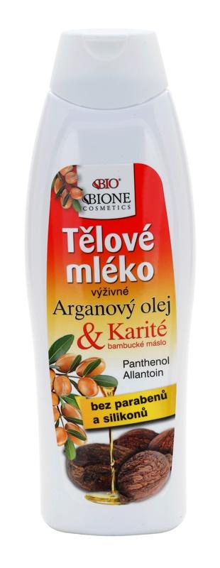Bione Cosmetics Argan Oil + Karité поживне молочко для тіла