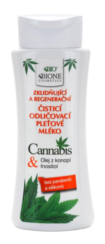 Bione Cosmetics Cannabis leite de limpeza calmante