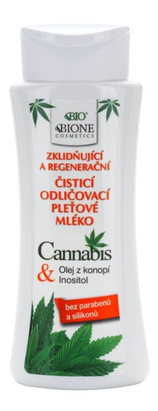 Bione Cosmetics Cannabis umirujuće mlijeko za čišćenje