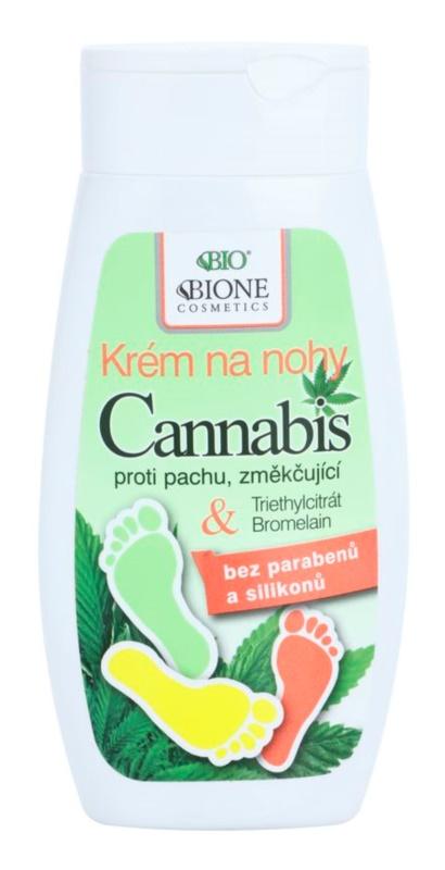Bione Cosmetics Cannabis crème émolliente pieds