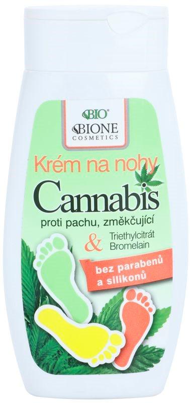 Bione Cosmetics Cannabis Fußcreme für zarte Haut