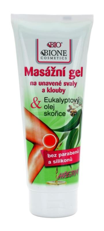 Bione Cosmetics Care gel de masaj cu efect de incalzire muschii si articulatiile