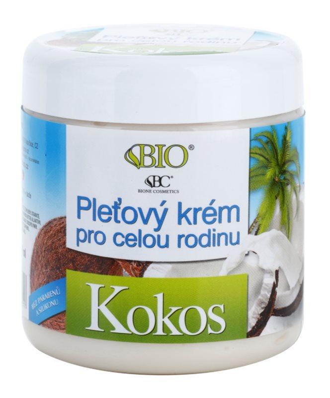 Bione Cosmetics Coconut crème visage pour toute la famille à la noix de coco
