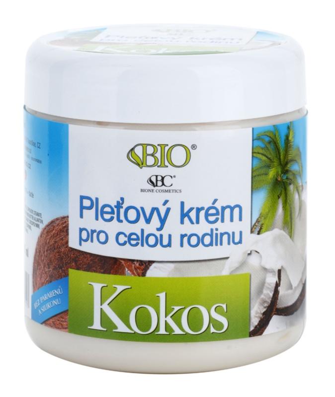Bione Cosmetics Coconut Gezichtscrème voor Heel Gezin  met Kokos