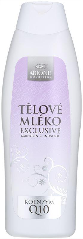 Bione Cosmetics Exclusive Q10 zvláčňující hydratační tělové mléko
