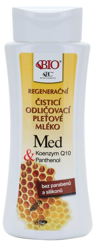 Bione Cosmetics Honey + Q10 regeneračné čistiace mlieko