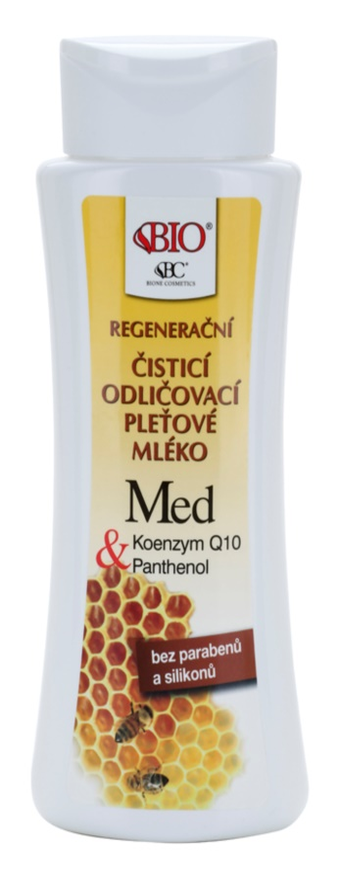 Bione Cosmetics Honey + Q10 regenerujące mleczko oczyszczające