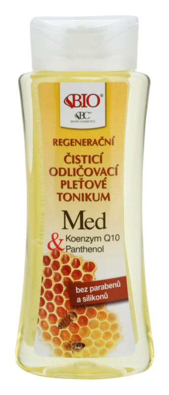 Bione Cosmetics Honey + Q10 tónico de limpeza regenerativo