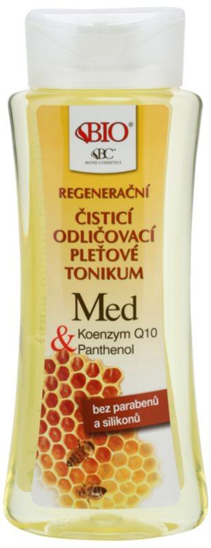 Bione Cosmetics Honey + Q10 tónico limpiador regenerador