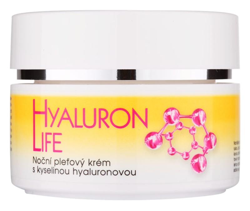 Bione Cosmetics Hyaluron Life crème de nuit visage à l'acide hyaluronique