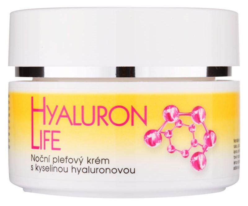 Bione Cosmetics Hyaluron Life nočný pleťový krém s kyselinou hyalurónovou