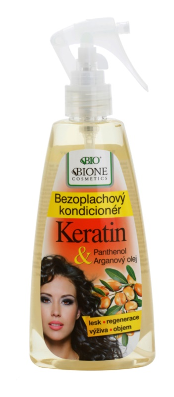 Bione Cosmetics Keratin Argan незмивний кондиціонер у формі спрею