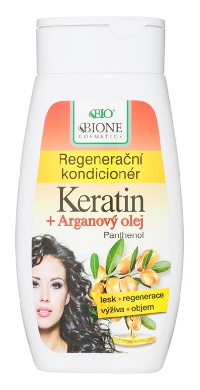 Bione Cosmetics Keratin Argan condicionador regenerador