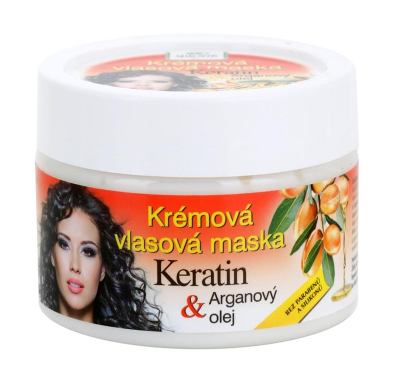 Bione Cosmetics Keratin Argan regeneráló maszk hajra hajra