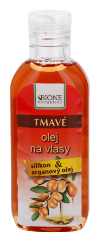 Bione Cosmetics Keratin Argan olej pro tmavé odstíny vlasů