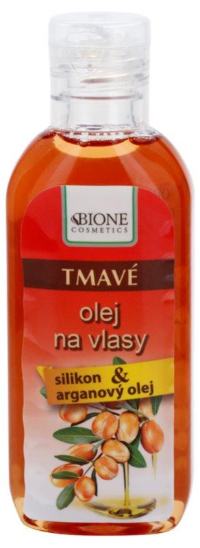 Bione Cosmetics Keratin Argan Olie voor Donkere Haarkleur