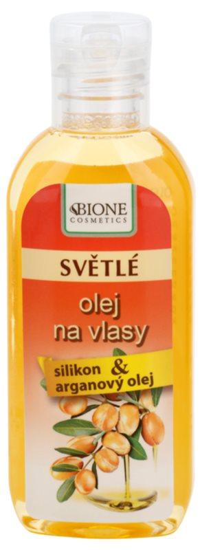 Bione Cosmetics Keratin Argan aceite para el cabello de tonos claros