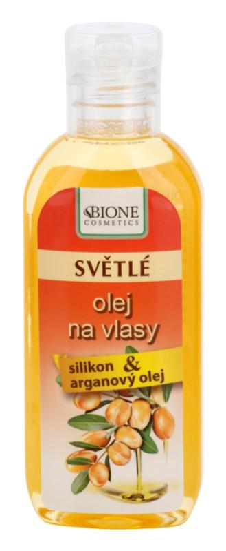 Bione Cosmetics Keratin Argan olejek do włosów jasnych