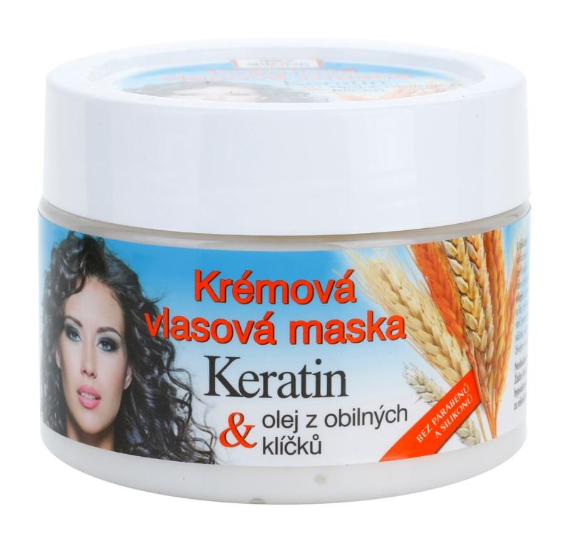Bione Cosmetics Keratin Grain kremowa maseczka do wszystkich rodzajów włosów