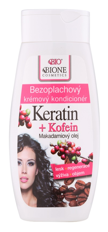 Bione Cosmetics Keratin Kofein bezoplachový krémový kondicionér