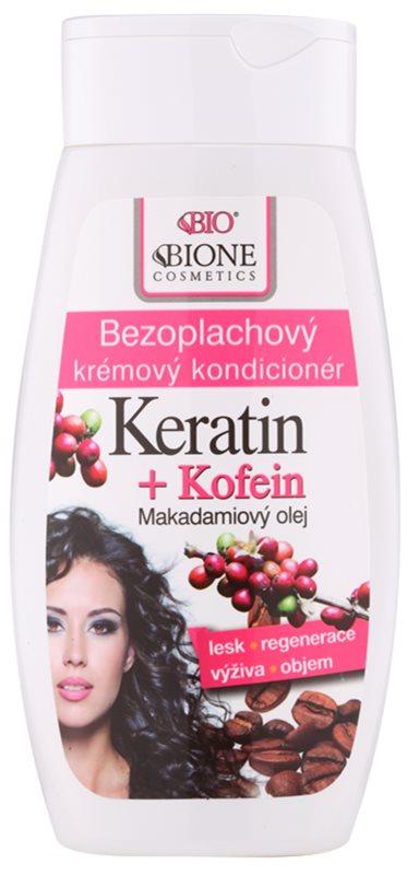 Bione Cosmetics Keratin Kofein condicionador sem enxaguar